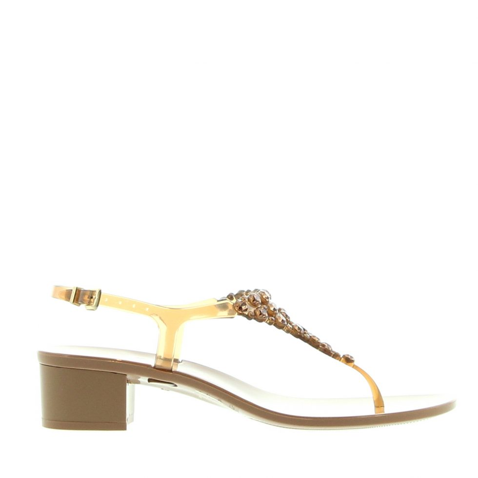 Take a look at this Chatties Yellow Flower Jelly Sandal